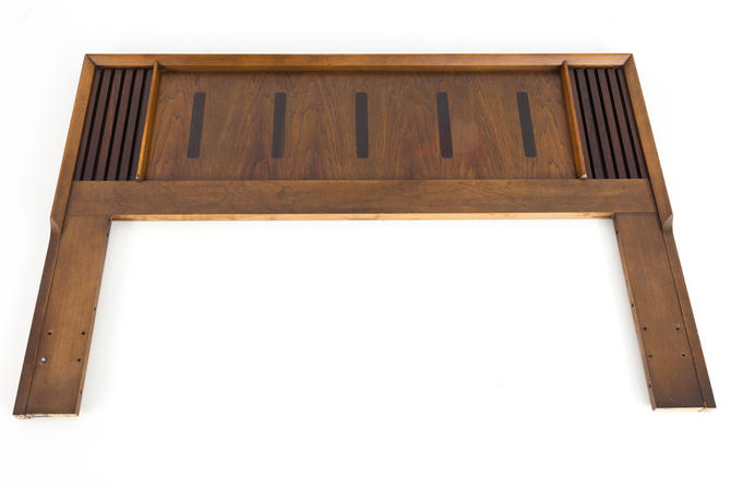 Lane Walnut and Rosewood Mid Century Queen Full Headboard - mcm by ModernHill