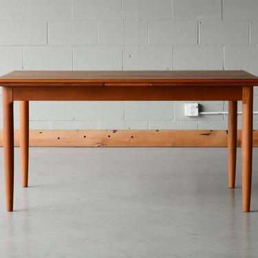 Mid Century Danish Modern Ansager Teak Dining Table by MadsenModern