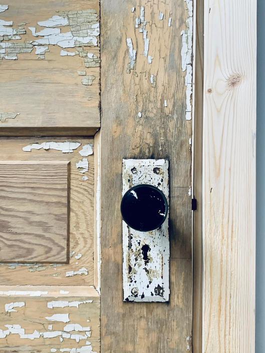 Black Enamel Cast Iron Door Knob   Antique Interior Doorknob   Black Door Knob   Metal Doorknob   Vintage Black Enamel Door Knob Hardware by PiccadillyPrairie