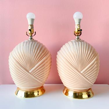 Pink Wrapped Art Deco Lamps - Sold Separately by BarelaVintage
