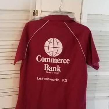 Vintage 60s/70s Red Bowling Shirt Leavenwort KS King Louie by FlashbackATX