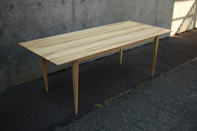 Modern Dining Table, Custom Dining Table, Modern Hardwood Dining Table, Modern Table (Shown in Myrtle) by TomfooleryWood