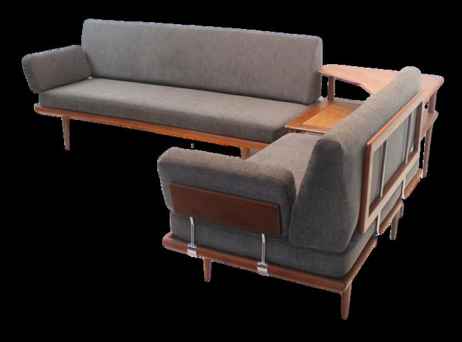 "Scandinavian Modern ""Minerva"" Living Room Suite Designed by Peter Hvidt"