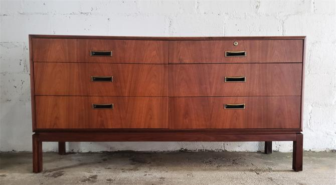 Mid Century Modern Walnut Double Dresser by WrightFindsinMCM