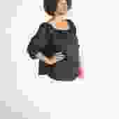 Cassatt Top, Linen in Black