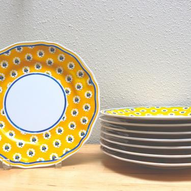 Le Cadeaux Rooster Melamine Dinner Plate 8 available