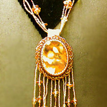 Russian Amber Pendant by CafeSocietyStore