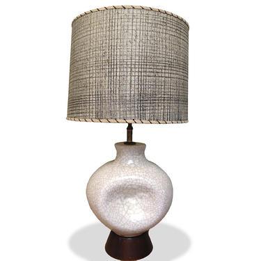 Ceramic Crackle Glazed Table Lamp