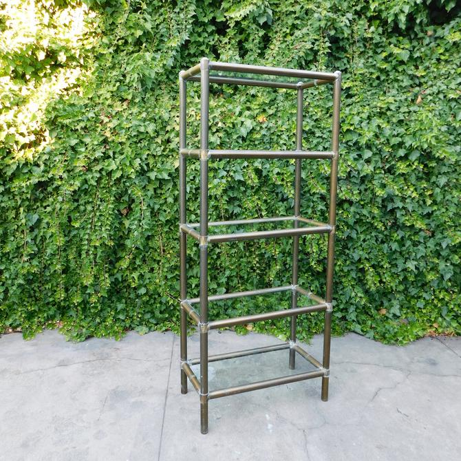 Vintage Brass Bamboo Étagère