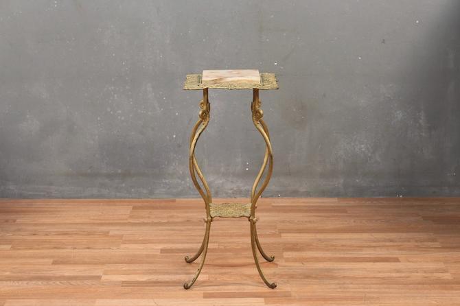 Marble & Gold Ornate Pedestal
