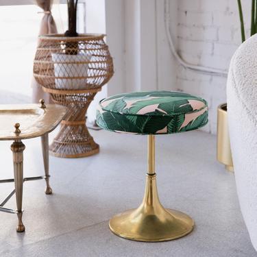 Tropical & Brass Vintage Tulip Stool