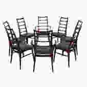 Set of 8 Koefoeds Hornslet Danish Modern Rosewood Dining Chairs