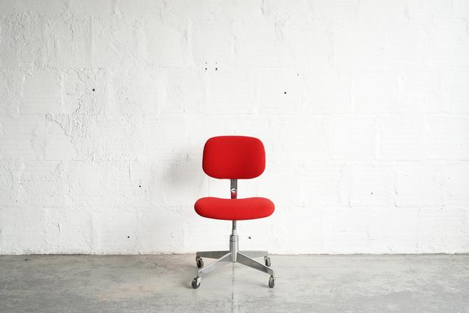 Red and Chrome Office Chair