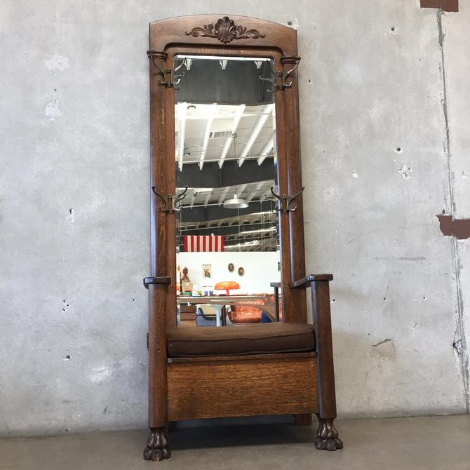 Antique Wall Tree / Chair