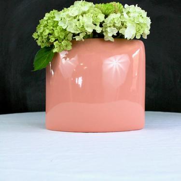 Genuine Vintage Royal Haeger Pottery 1980's Pink Oblong Vase by ArchiveHomeVintage