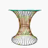 Mid-Century Modernist Platner Style Steel Rod Side Table / Stool Base by ELECTRICmarigold