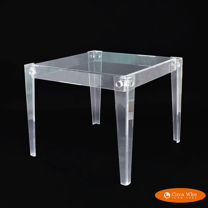 Lucite Game Table