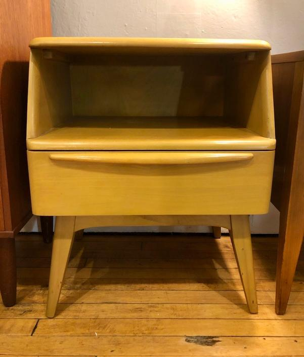 Heywood Wakefield single drawer Nightstand in Wheat