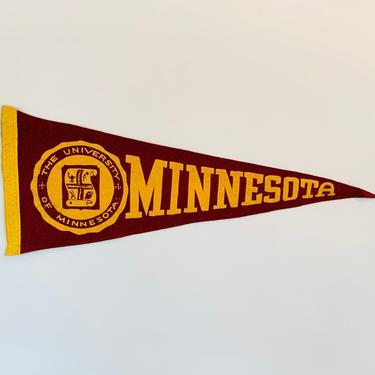 Vintage University of Minnesota Pennant by DelveChicago