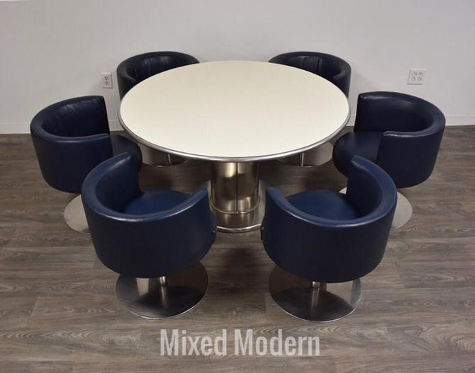 Harvey Probber Dining Table & Chairs- a Set by mixedmodern1