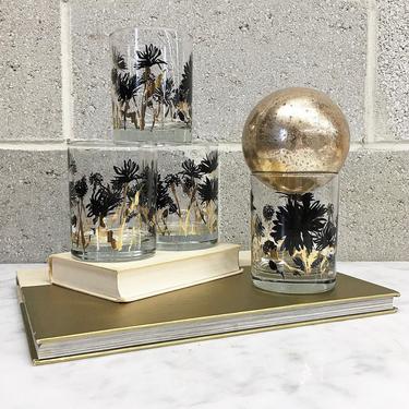 Vintage Whiskey Glass Set Retro 1960s Georges Briard + Mid Century Modern + Set of 4 Matching + On the Rocks + MCM Barware + Home Decor by RetrospectVintage215