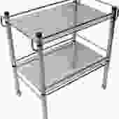 1970's Glass & Chrome Bar / Serving Cart