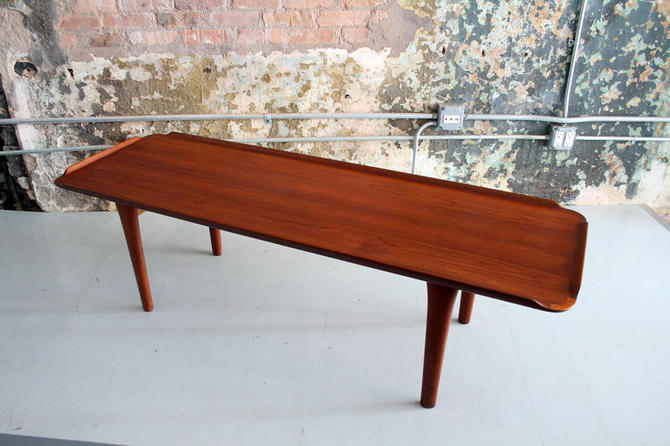 Danish Teak Lipped Edge Coffee Table