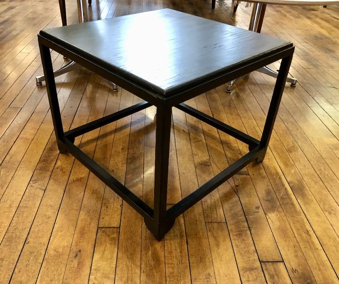Vintage Asian Black Lacquer Side Table 1960's