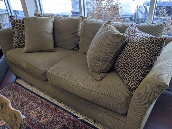 Brown Sofa w/ Pillows