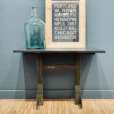 Metal + Wood Industrial Side Table   Industrial Side Tables   Industrial Nightstands   Set of Two Tables   Matching Tables   Small Desk by PiccadillyPrairie