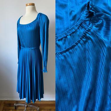 70s Pleated Disco Dress by CitrusAndSageStudio