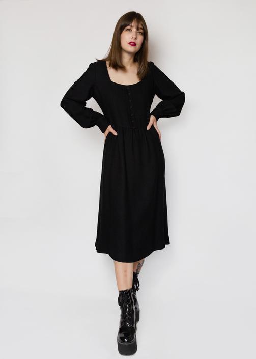 Mr. Blackwell Casual Black Dress