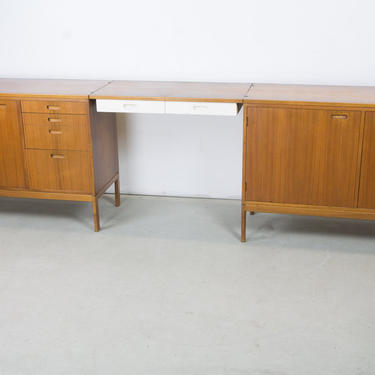 Pair of Cabinets with Detachable Floating Desk