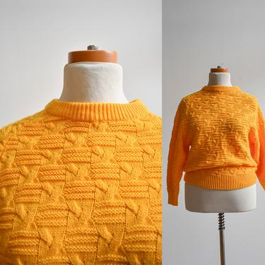 Vintage 1980s Yellow Sweater by milkandice