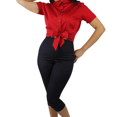 1950s Red Knot Top XS-4XL by VintageGaleria