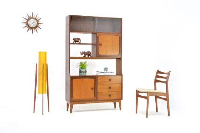 Mid Century Display Cabinet/Room divider by Stonehill of London by SputnikFurnitureLLC