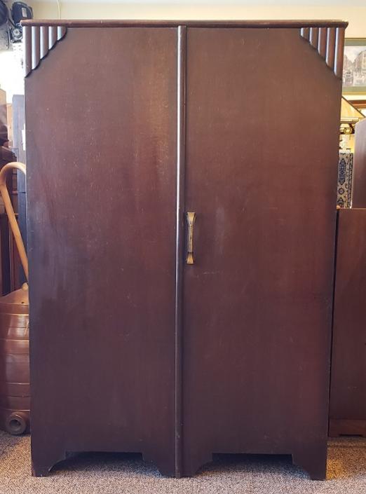 Item #S2051 English Oak Deco Cupboard c.1940s