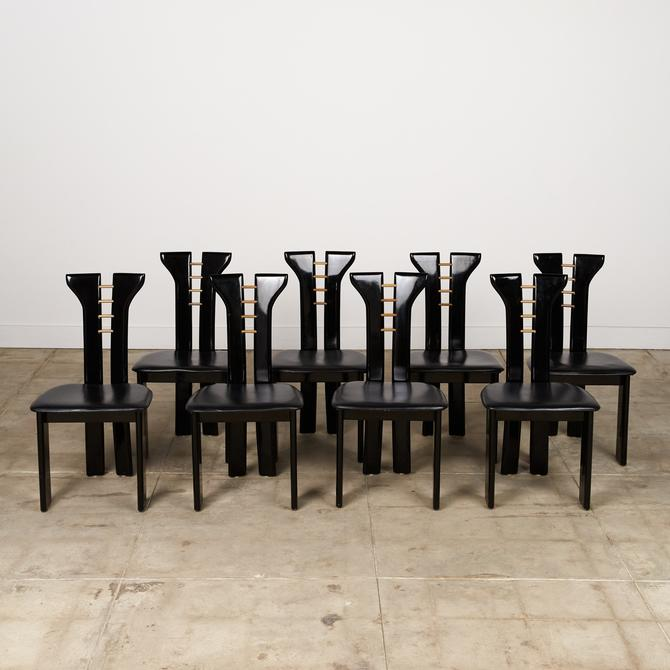 Set of 8 Pierre Cardin Dining Chairs for Roche Bobois