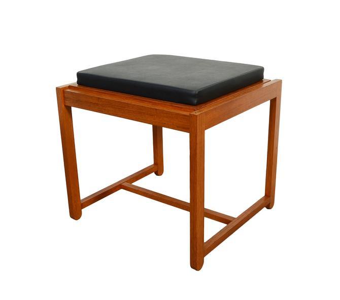 Teak Stool Flip Top Table Ottoman Erik Buch Danish Modern Domis Danica OD Mobler by HearthsideHome