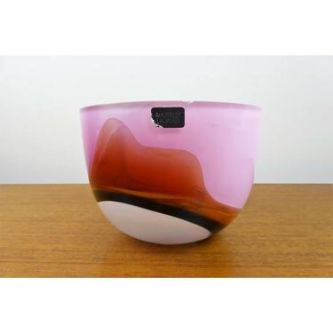 Michael Ahlefeldt-Laurvig Art Bowl - Sweden - 1990s - BEAUTIFUL by TheFeatheredCurator