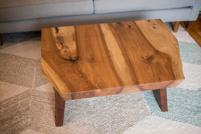 Walnut and Butternut Live Edge Coffee Table by MathesonWoodwork