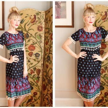 1970s Dress // Firefly Rayon Dress // vintage 70s dress by dethrosevintage