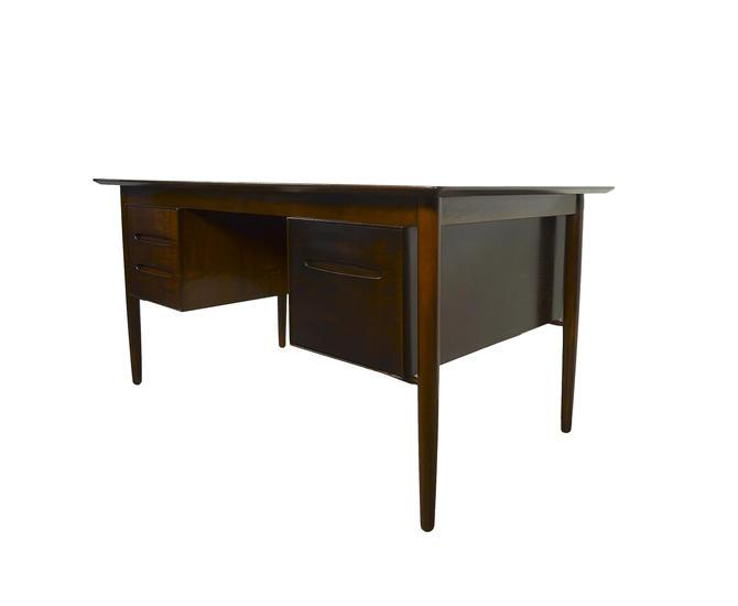 Walnut Desk Ib Kofod Larsen for Selig Danish Modern by HearthsideHome