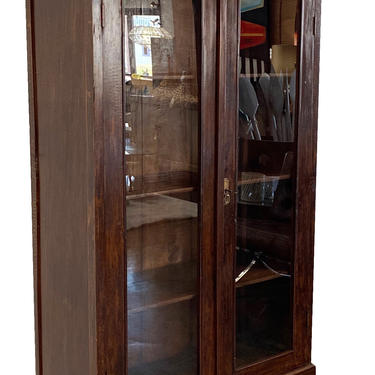 Balinese Teak Armoire with Glass Doors by TerraNovaLA