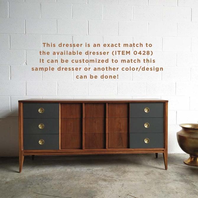 #428: Nine Drawer Mid Century Dresser