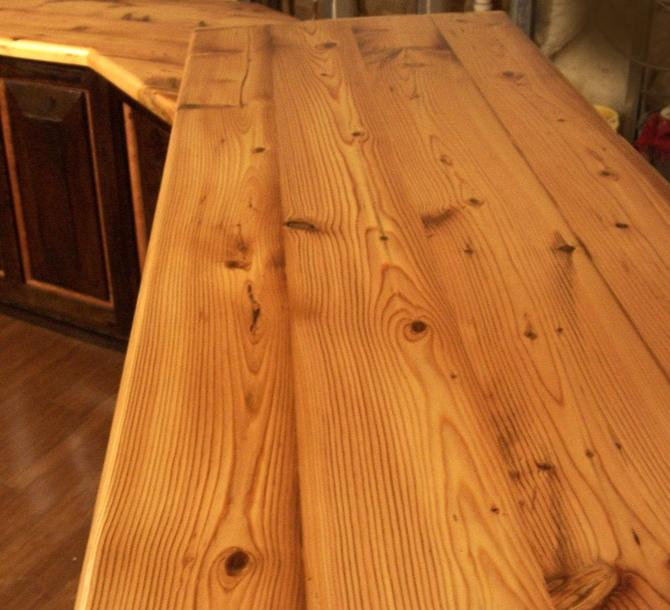 FREE SHIPPING! Custom Reclaimed Wood Plank Countertops for 45 dollars a sq ft by BarnWoodFurniture