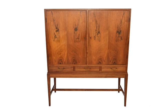 Danish Modern Mid Century Ole Wanscher Brazilian Rosewood Dry Bar Cupboard by MidCenturyMobler