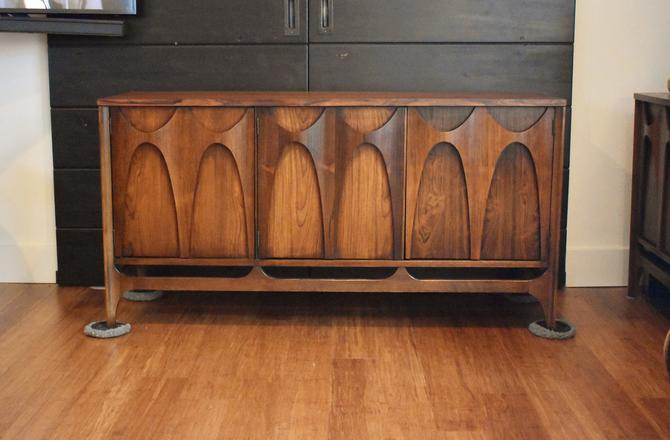 "Newly-restored Broyhill Brasilia 54"" brazilian rosewood console credenza *ULTRA RARE* by MidCenturyClever"