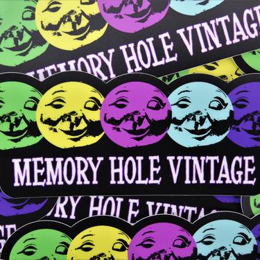 """Memory Hole Vintage Die Cut Vinyl Sticker - 6"""" by MemoryHoleVintage"""