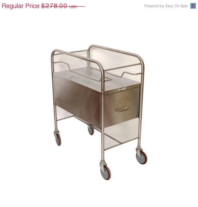 Sale Stainless Steel Cart by Smith and Nephew Rolling Bar Cart by HearthsideHome